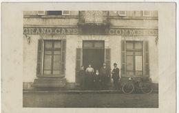 Carte Photo  Grand Café Du Commerce  Carte Envoyée à Vierzon Forges Cher - Cafés