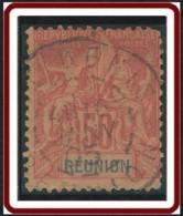 Réunion 1892-1901 - N° 42 (YT) N° 42 (AM) Oblitéré. - Réunion (1852-1975)