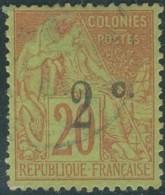 Réunion 1892-1901 - N° 45a (YT) N° 45 (AM) Type II Oblitéré. - Réunion (1852-1975)