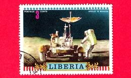 LIBERIA - Usato - 1972 - Viaggi Nello Spazio - Apollo 16 - Astronauti  - Missione - 3 - Liberia