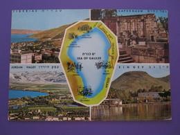 ISRAEL TIBERIAS CAPERNAUM SEA GALILEE JORDAN VALLEY POSTCARD PICTURE ORIGINAL PHOTO POST CARD PC STAMP - Israel
