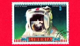LIBERIA - Usato - 1972 - Viaggi Nello Spazio - Apollo 16 - Astronauti  - Missione - 5 - Liberia