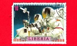 LIBERIA - Usato - 1972 - Viaggi Nello Spazio - Apollo 16 - Astronauti  - Missione - 10 - Liberia