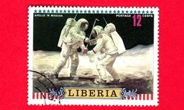 LIBERIA - Usato - 1972 - Viaggi Nello Spazio - Apollo 16 - Astronauti  - Missione - 12 - Liberia