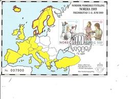Europa 1989 ( Carte Commémorative De Norvège à Voir) - 1989