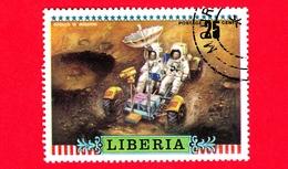 LIBERIA - Usato - 1972 - Viaggi Nello Spazio - Apollo 16 - Astronauti  - Missione - 25 - Liberia