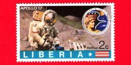 LIBERIA - Usato - 1973 - Viaggi Nello Spazio - Apollo 17 - Astronauti  - Astronauts On The Moon - 2 - Liberia