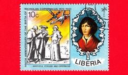 LIBERIA - Usato - 1973 - 500 Anni Della Nascita Di Niccolò Copernico - Aristotle, Ptolemy And Copernicus - 10 - Liberia