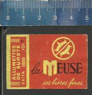 LA MEUSE CES BIÈRES FINES  (BIER ALE BIRRA BEER) (FRANCE étiquette D'allumettes SEITA - Matchbox Label) OLD & VERY RARE - Matchbox Labels