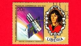 LIBERIA - Usato - 1973 - 500 Anni Della Nascita Di Niccolò Copernico - Orbiting Astronomical Observatory - 20 - Liberia