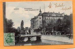 Erfurt Germany 1909 Postcard - Erfurt