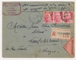 CONTRE REMBOURSEMENT, CHAUMONT Haute Marne. - Storia Postale
