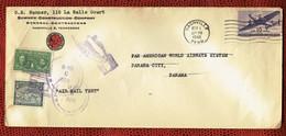 Pierre Et Marie CURIE - PANAMA - Lettre Du 3 Novembre 1946 - USA Vers PANAMA - Nobel - Physique