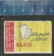 ELCO VOTRE PAPIER À LETTRES (FRANCE étiquette D'allumettes SEITA - Matchbox Label) OLD & VERY RARE - Matchbox Labels