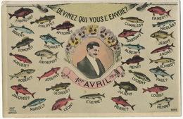 1er Avril 1910 Prenoms Masculins François Philippe Antoine Charles Ernest Nicolas Roger Maurice Gaston - 1er Avril - Poisson D'avril