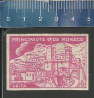 PRINCIPAUTÉ DE MONACO (étiquette D'allumettes SEITA - Matchbox Label) OLD & VERY RARE - Matchbox Labels
