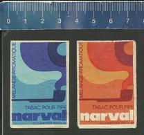 NARVAL TABAC POUR PIPE MÉLANGE AROMATIQUE (FRANCE étiquettes D'allumettes SEITA - Matchbox Labels) OLD & VERY RARE - Matchbox Labels
