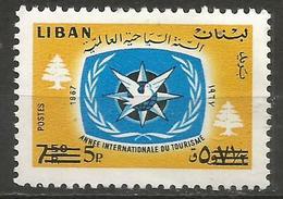 Lebanon - 1972 Tourist Year Surcharge  MNH **   Mi 1149  Sc 461 - Lebanon