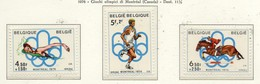 PIA - BELGIO - 1976 : Giochi Olimpici Di Montreal -  (Yv 1795-97) - Estate 1976: Montreal