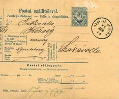Entier Postal -  Postai Szallitolevel - 5 Kr Öt Krajczar - Najy Sz Miklos 1885 - Interi Postali