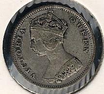 Hongkong, 10 Cents 1901, Silber - Hong Kong