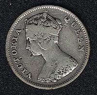 Hongkong, 10 Cents 1898, Silber - Hong Kong