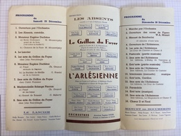 18X - Grand Gala Noël 1943 œuvres Locales Né Moustier Sur Sambre - Programs