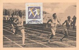 D35104 CARTE MAXIMUM CARD 1960 YUGOSLAVIA - ATHLETICS RUNNING - OLYMPIC RINGS CP ORIGINAL - Athletics