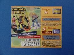 2010 BIGLIETTO LOTTERIA NAZIONALE ITALIA ESTRAZIONE 2011 - Loterijbiljetten