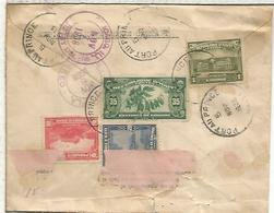 HAITI CC CERTIFICADA A USA 1936 SELLO CAFE COFFEE - Haití