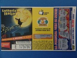 2012 BIGLIETTO LOTTERIA NAZIONALE ITALIA ESTRAZIONE 2013 - Biglietti Della Lotteria