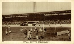 ITALIE EGYPTE SPELMOMENT   OLYMPISCHE SPELEN 1928 - Soccer
