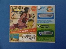 2013 BIGLIETTO LOTTERIA NAZIONALE ITALIA ESTRAZIONE 2014 ANNI 70 - Billetes De Lotería