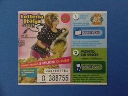 2013 BIGLIETTO LOTTERIA NAZIONALE ITALIA ESTRAZIONE 2014 ANNI 80 - Loterijbiljetten