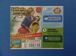 2013 BIGLIETTO LOTTERIA NAZIONALE ITALIA ESTRAZIONE 2014 ANNI 90 - Loterijbiljetten