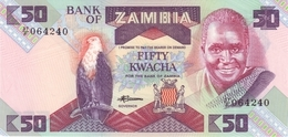 ZAMBIA 50 KWACHA ND (1986) P-28a UNC  [ZM129a] - Sambia