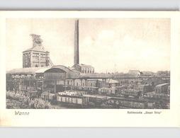 """2 AK WANNE Fabrik Kohlenzeche """"Unser Fritz"""" Mit Zug + Bahnhof Mit Zug Um 1906 - Deutschland"""
