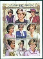 Senegal 1998 Princess Diana In Memoriam, Princess Portraits MS MUH - Senegal (1960-...)
