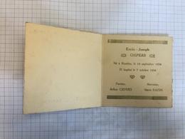 18Y - Emile Ciepers Farciennes 1934 - Birth & Baptism