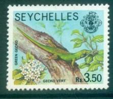 Seychelles 1977-91 Green Gecko 3.50R MUH Lot81237 - Seychelles (1976-...)