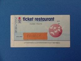 1991 BIGLIETTO TICKET RESTAURANT BUONO PASTO GEMEAZ CUSIN SEGRATE MILANO - Altre Collezioni