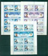 Seychelles 1981 Charles & Diana Wedding 3x Sheetlets MUH Lot45241 - Seychelles (1976-...)