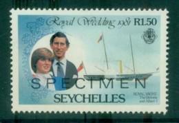 Seychelles 1981 Royal Wedding 1.50R SPECIMEN MUH Lot81238 - Seychelles (1976-...)