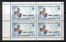 Seychelles 1981 Royal Wedding Charles & Diana Booklet Pane 1.50r MUH - Seychelles (1976-...)