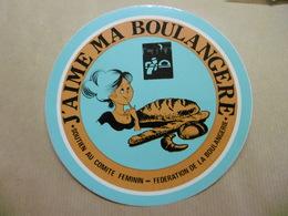 J'aime Ma Boulangère - Autocollant Métier Féminin Avec Le Soutien Du Syndicat Des MEUNIERS Du BAS-RHIN 67 ALSACE - Autocollants