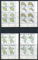 Seychelles 1982 Island Maps Blk4 MUH - Seychelles (1976-...)