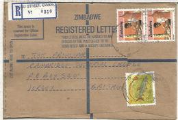 ZIMBABWE CC CERTIFICADA SELLOS PEZ FISH ARTESANIA WOOD CARVING - Zimbabwe (1980-...)