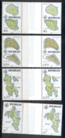 Seychelles 1982 Island Maps Gutter Pr MUH - Seychelles (1976-...)