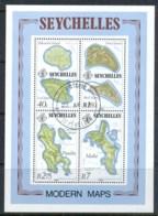 Seychelles 1982 Maps MS CTO - Seychelles (1976-...)