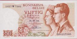 50 Frank Vijftig Cinquante Francs 1966  Koninkrijk Royaume De Belgie Belgique Belgium Bankbiljet Banknote Billet - [ 2] 1831-... : Belgian Kingdom